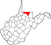 [Map of Mon County within West Virginia]